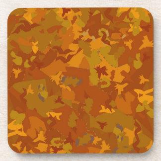 Camo del camuflaje de las hojas de otoño de la caí posavasos de bebida