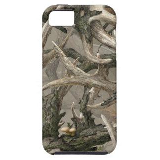 Camo del cráneo de los ciervos de la selva virgen funda para iPhone 5 tough