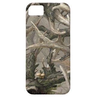 Camo del cráneo de los ciervos de la selva virgen iPhone 5 carcasa