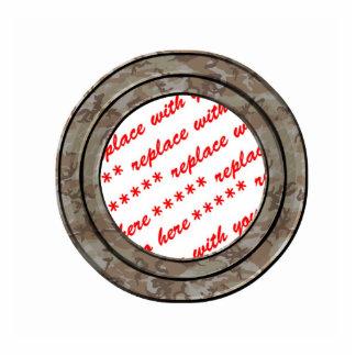 Camo Desert Circle Photo Frame Template Photo Cut Out