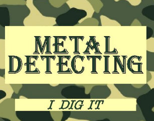 Metal detecting business cards zazzle camo design metal detecting business card colourmoves