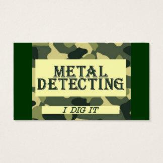 Camo Design Metal Detecting Business Card