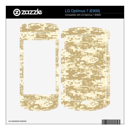 Camo digital del desierto LG optimus 7 skin