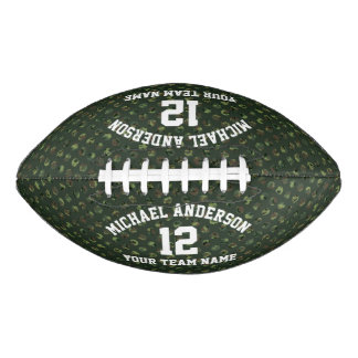 Camo Dots Personalized Name Team Number Sports Football