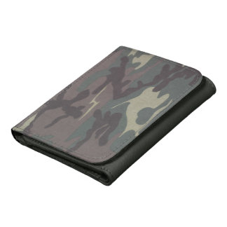 Camo Faux Leather Wallet