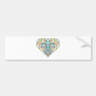 Camo Fleur De Li Bumper Sticker