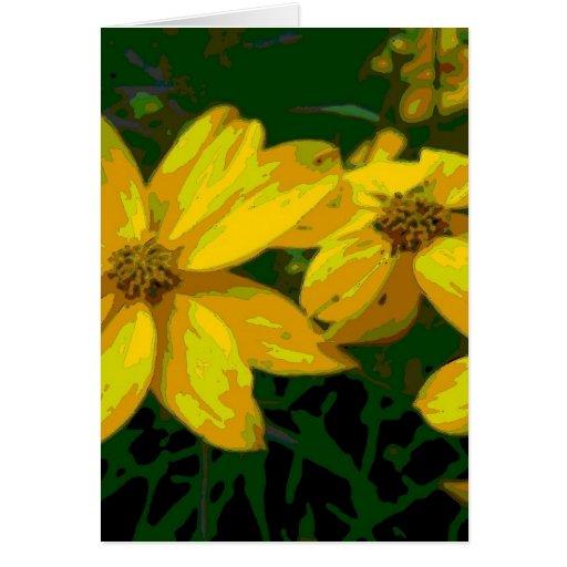 camo-flor tarjetas