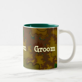 Camo Fractal Groom Mug