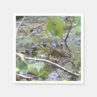 Camo-Frog Green Frog Paper Napkins