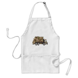 Camo Garbage Truck Military Adult Apron