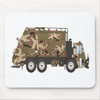 Camo Garbage Truck Military Mouse Pad