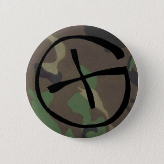 camo, Geocaching Pinback Button