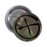 camo, Geocaching Pinback Button