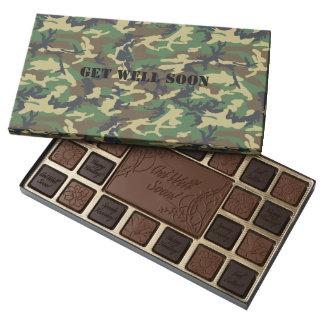 Camo Get Well Chocolates 45 Piece Assorted Chocolate Box