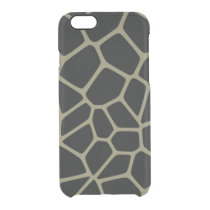Camo Giraffe Pattern Clear iPhone 6/6S Case