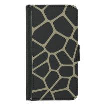 Camo Giraffe Pattern Wallet Phone Case For Samsung Galaxy S5