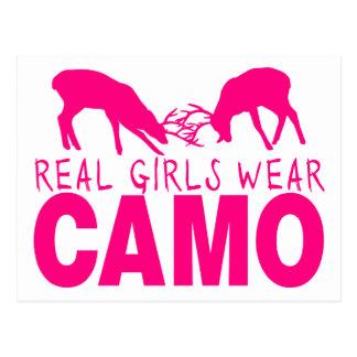 CAMO GIRL POSTCARD