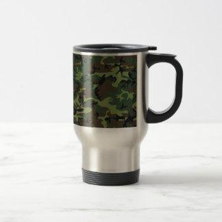 [CAMO-GR-1] Camo verde y marrón Taza Térmica
