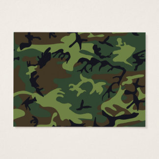 [CAMO-GR-1] Green and brown camo Business Card