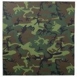 [CAMO-GR-1] Green and brown camo Cloth Napkins