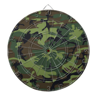 [CAMO-GR-1] Green and brown camo Dartboard With Darts