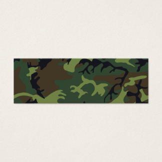 [CAMO-GR-1] Green and brown camo Mini Business Card