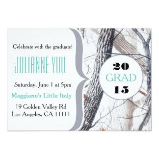 """Camo Graduation Party 2015 Personalized Invite 5"""" X 7"""" Invitation Card"""