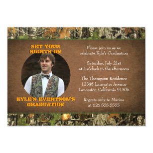 Camouflage graduation invitations announcements zazzle camo graduation photo invitations filmwisefo