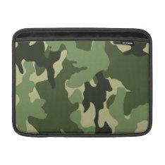 Camo Green 13 Inch Macbook Air Sleeve - Horizontal at Zazzle