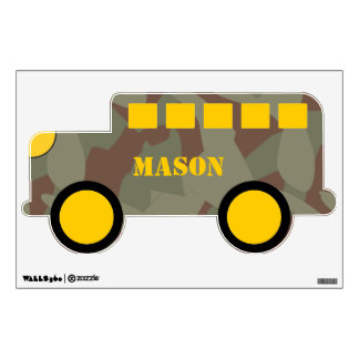 Camo Green Brown And Yellow All Terrain Wall Decal