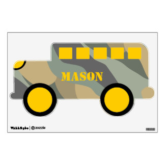 Camo Green Brown Blue And Yellow All Terrain Wall Decal