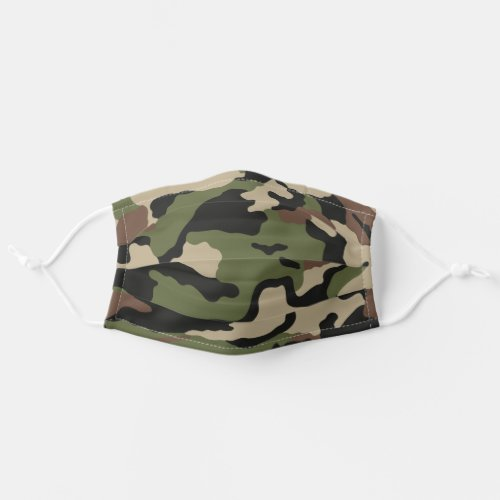 Camo Green Camoflage Country Print Cloth Face Mask