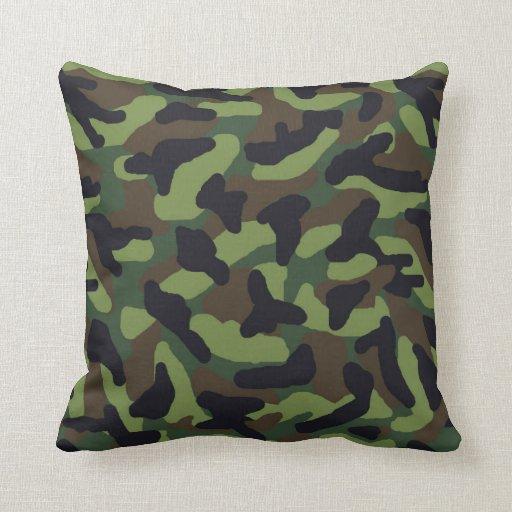 Camo Green Camouflage Throw Pillow Zazzle