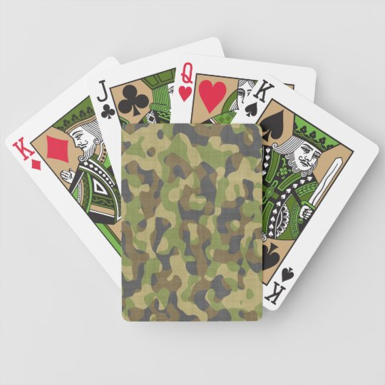 Camo Greens & Browns Bicycle Playing Cards