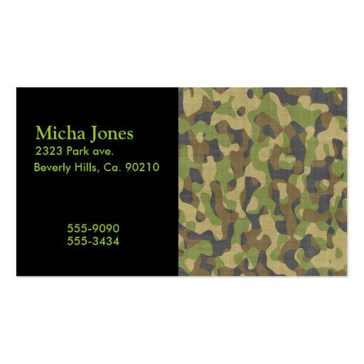 Camo business card templates page3 bizcardstudio camo greens browns business cards colourmoves