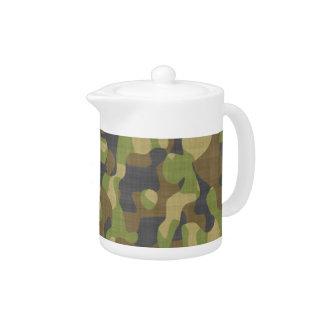 Camo Greens & Browns Teapot