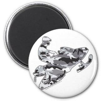 Camo Grey Sled on Black copy Fridge Magnet
