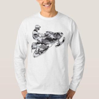 Camo Grey Sled on Black copy T Shirts