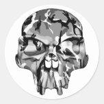 Camo Half Skull Stickers