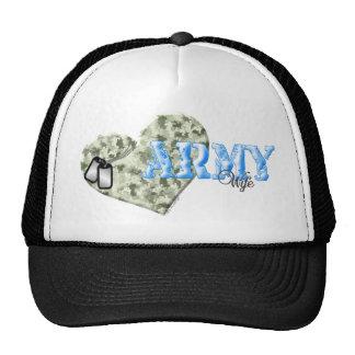 CAMO HEART ARMY WIFE TRUCKER HAT