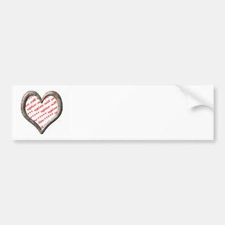 Camo Heart - Desert - Template Photo Frame Bumper Sticker