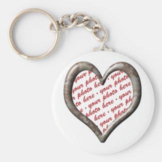 Camo Heart - Desert - Template Photo Frame Keychain