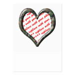 Camo Heart - Forest - Template Photo Frame Large Business Cards (Pack Of 100)