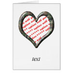 Camo Heart - Forest - Template Photo Frame Greeting Card