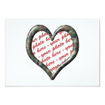 "Camo Heart - Forest - Template Photo Frame 5"" X 7"" Invitation Card"