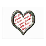 Camo Heart - Forest - Template Photo Frame Postcard