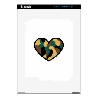 Camo Heart iPad 3 Decal