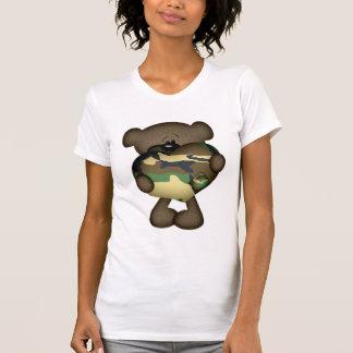 Camo Heart Military Teddy Bear T-Shirt