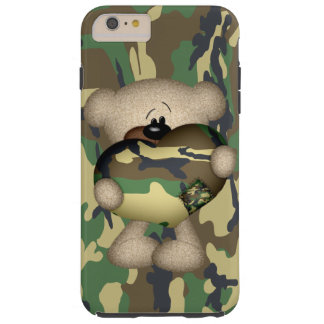 Camo Heart Military Teddy Bear Tough iPhone 6 Plus Case