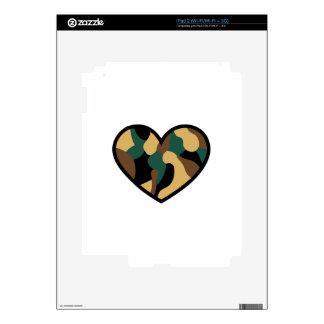 Camo Heart Skins For iPad 2